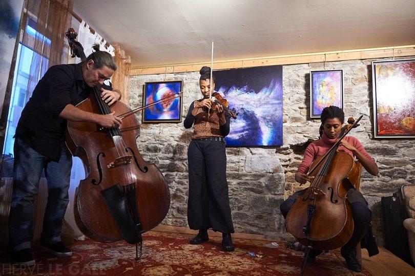 Arch #1 Frédéric Briet Mazz Swift Tomeka Reid Atlantique jazz festival dimanche 11 octobre 2015 par Herve Le Gall