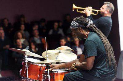 Philippe Champion et Hamid Drake Atlantique jazz festival Awena Guipavas mercredi 7 octobre 2015 par Herve Le Gall.