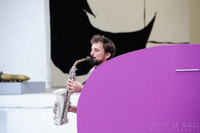 Lionel Garçin Centre d'art Passerelle Atlantique jazz festival samedi 18 octobre 2014 par Herve Le Gall.