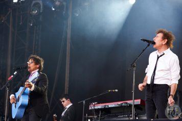 Alain Souchon et Laurent Voulzy Festival les Vieilles Charrues samedi 16 juillet 2016 par Herve Le Gall.