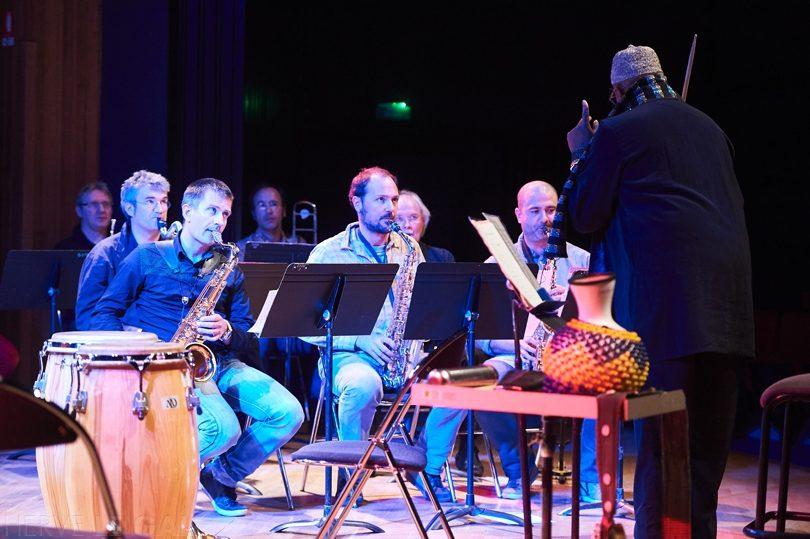 Arch 3 Famoudou Don Moye et Orchestre du Conservatoire Atlantique jazz festival lundi 12 octobre 2015 par Herve Le Gall