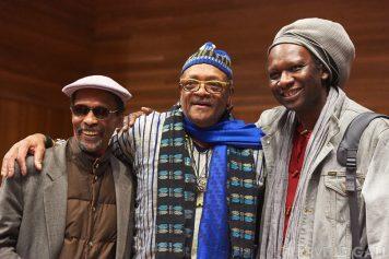 Avreeayl Ra, Famoudou Don Moye, Hamid Drake Conservatoire de Brest lundi 12 octobre 2015 par Herve Le Gall