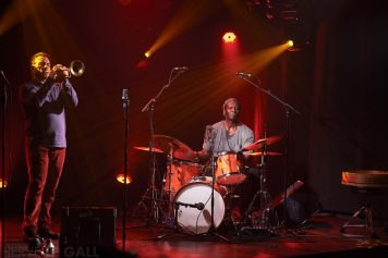 Philippe Champion et Hamid Drake Atlantique jazz festival Run ar Puns dimanche 4 octobre 2015 par Herve Le Gall.