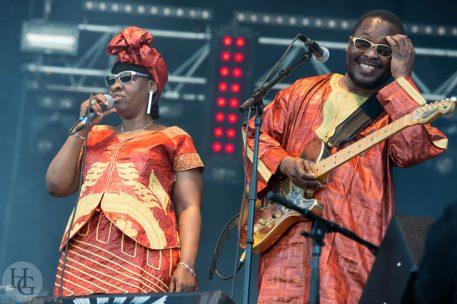 Amadou et Mariam Festival des Vieilles Charrues dimanche 22 juillet 2012 par herve le gall photographe cinquieme nuit
