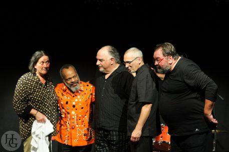 photo Cappozzo, Ewart, Léandre, Santacruz et Zerang Atlantique jazz festival 2013 par herve le gall photographe cinquieme nuit