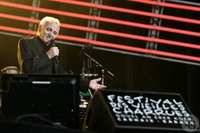 Charles Aznavour Festival les Vieilles Charrues, Carhaix jeudi 19 juillet 2007 par herve le gall photographe cinquieme nuit