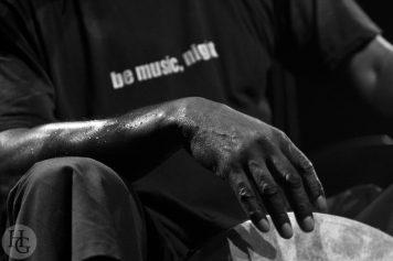 Hamid Drake Pasquale Mirra Atlantique jazz festival dimanche 10 octobre 2010 Run ar Puns par herve le gall photographe cinquieme nuit