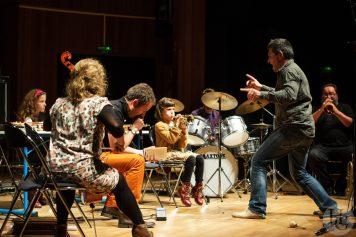 La marmite à sons Christophe Rocher et Cappozzo Conservatoire Brest Atlantique jazz festival 20 octobre 2013 par herve le gall photographe cinquieme nuit