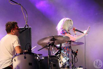 The Ting tings Festival la Route du Rock 2008 samedi 16 août 2008 par herve le gall photographe cinquieme nuit